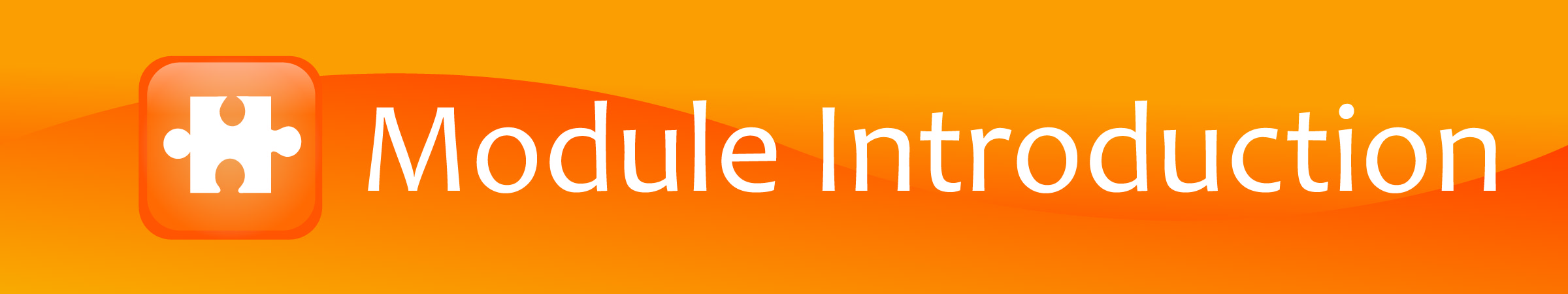 Module Introduction Banner